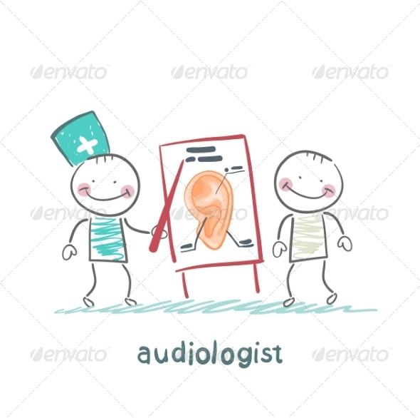 GraphicRiver Otolaryngologist Shows a Presentation 6867678