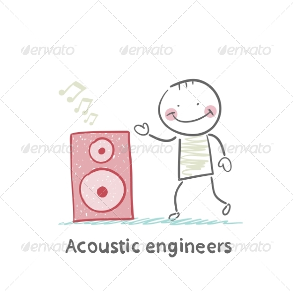 GraphicRiver Acoustic Engineer with Column 6867688