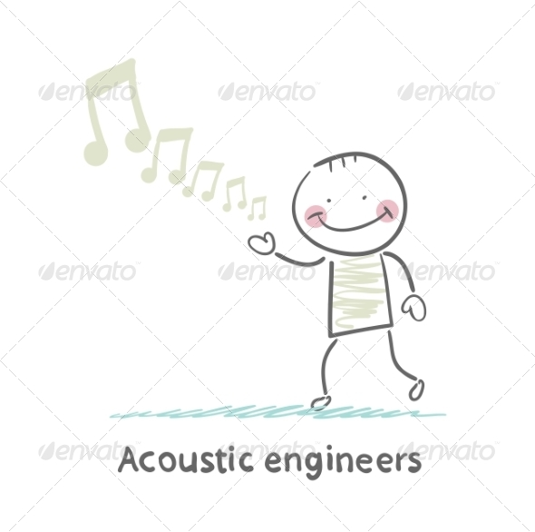 GraphicRiver Acoustic Engineer with Notes 6867695