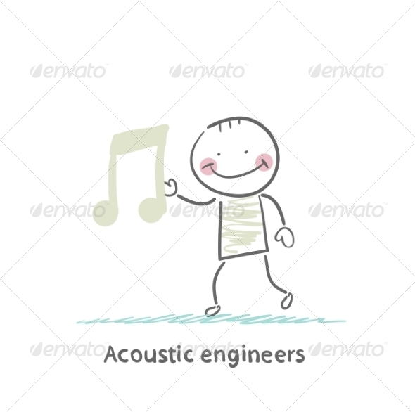 GraphicRiver Acoustic Engineer with a Note 6867702