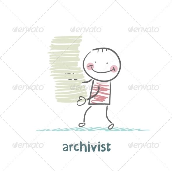GraphicRiver Archivist is a Stack of Files 6867703