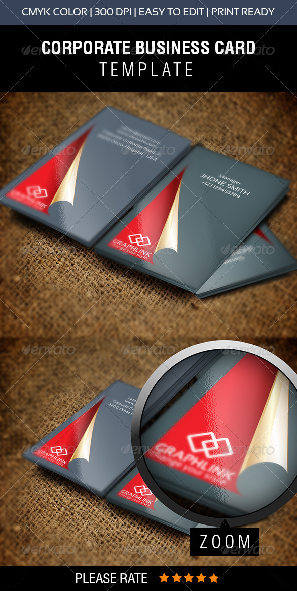 GraphicRiver Red Carpet Business Card 6867729