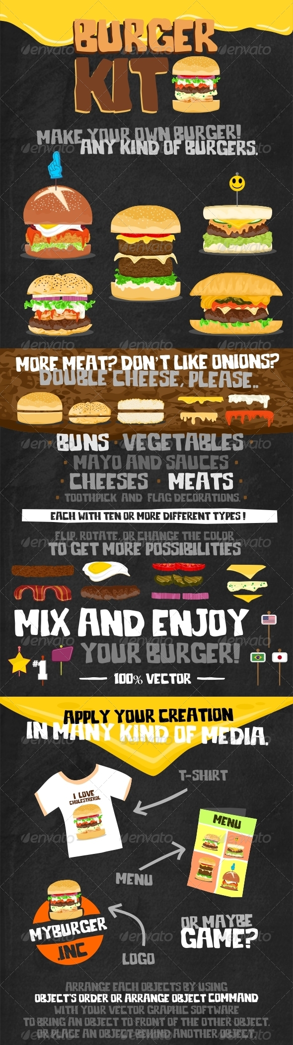 GraphicRiver Burger Kit 6858004