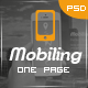 Mobiling - One Page App Landing Page - ThemeForest Item for Sale