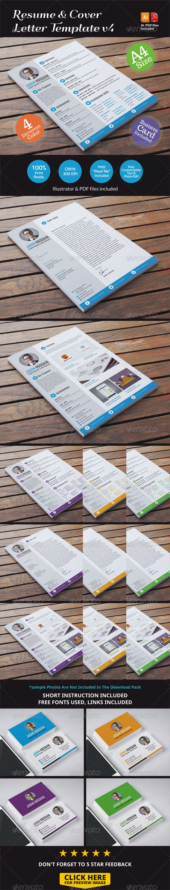 GraphicRiver Resume & Cover Letter Template v4 6867821