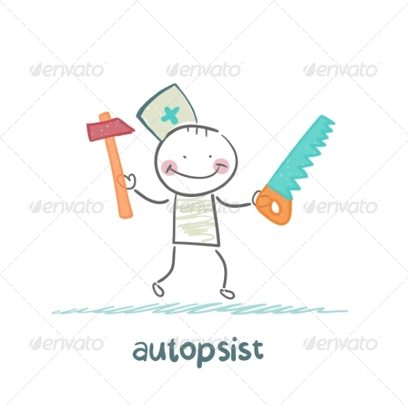 GraphicRiver Autopsist with a Saw and Mrlotkom 6867847