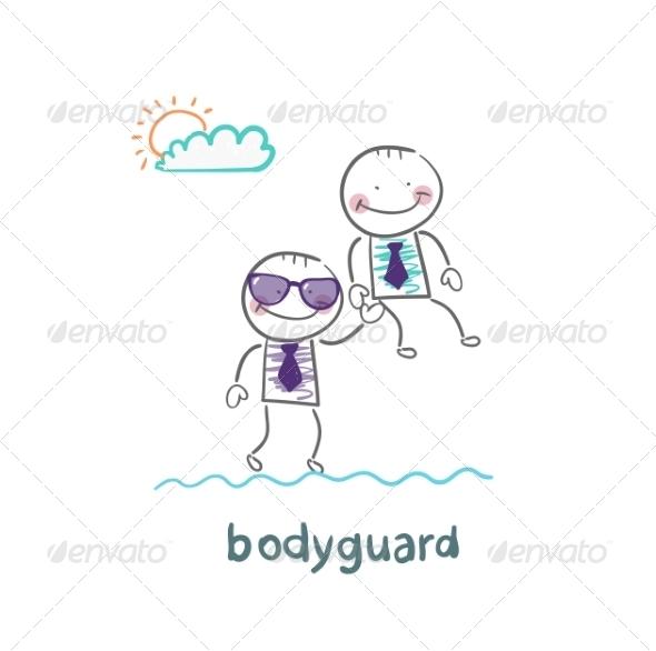 GraphicRiver Bodyguard Carries a Businessman 6867849