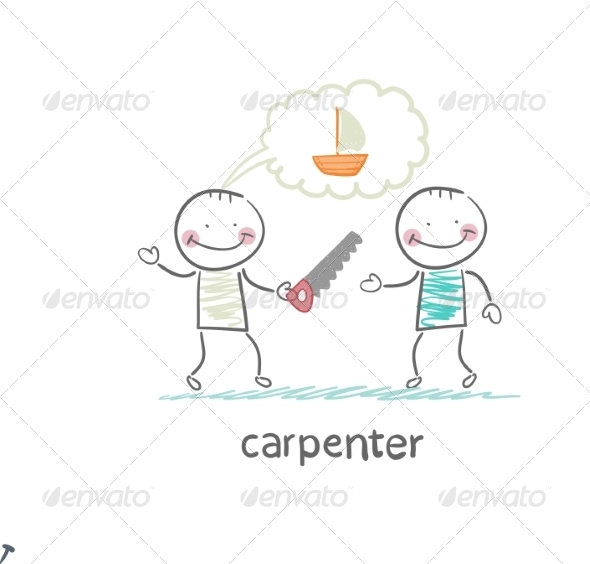 GraphicRiver Carpenter Tells the Customer About the Ship 6867867