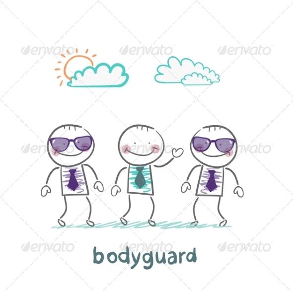 GraphicRiver Bodyguards Protect Businessman 6867902