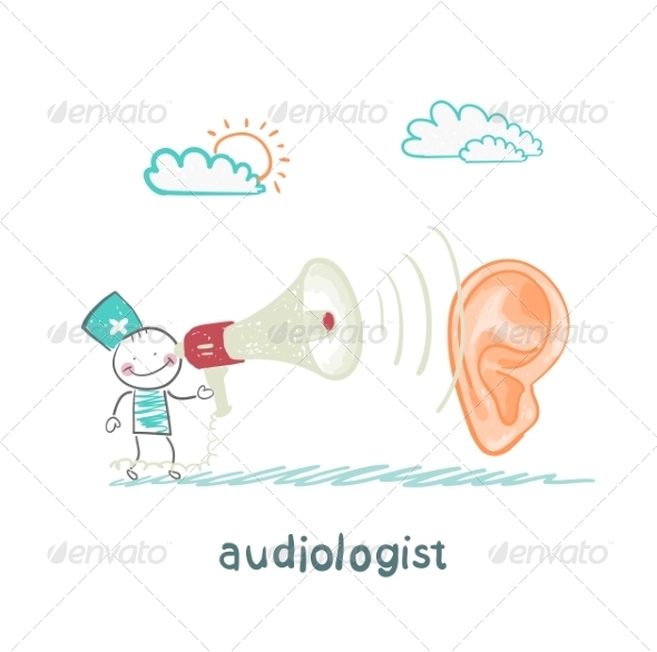 GraphicRiver Otolaryngologist Yells into a Megaphone on Patient 6867917