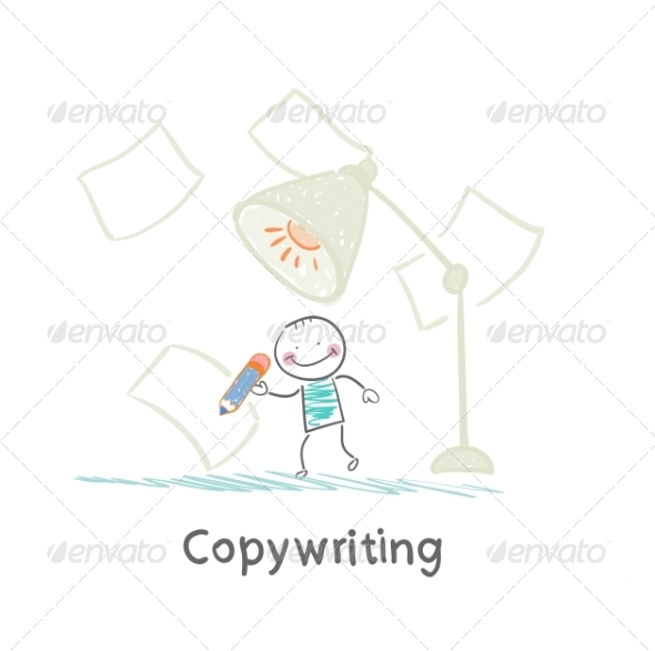 GraphicRiver Copywriter Writes in Pencil on Paper 6867957