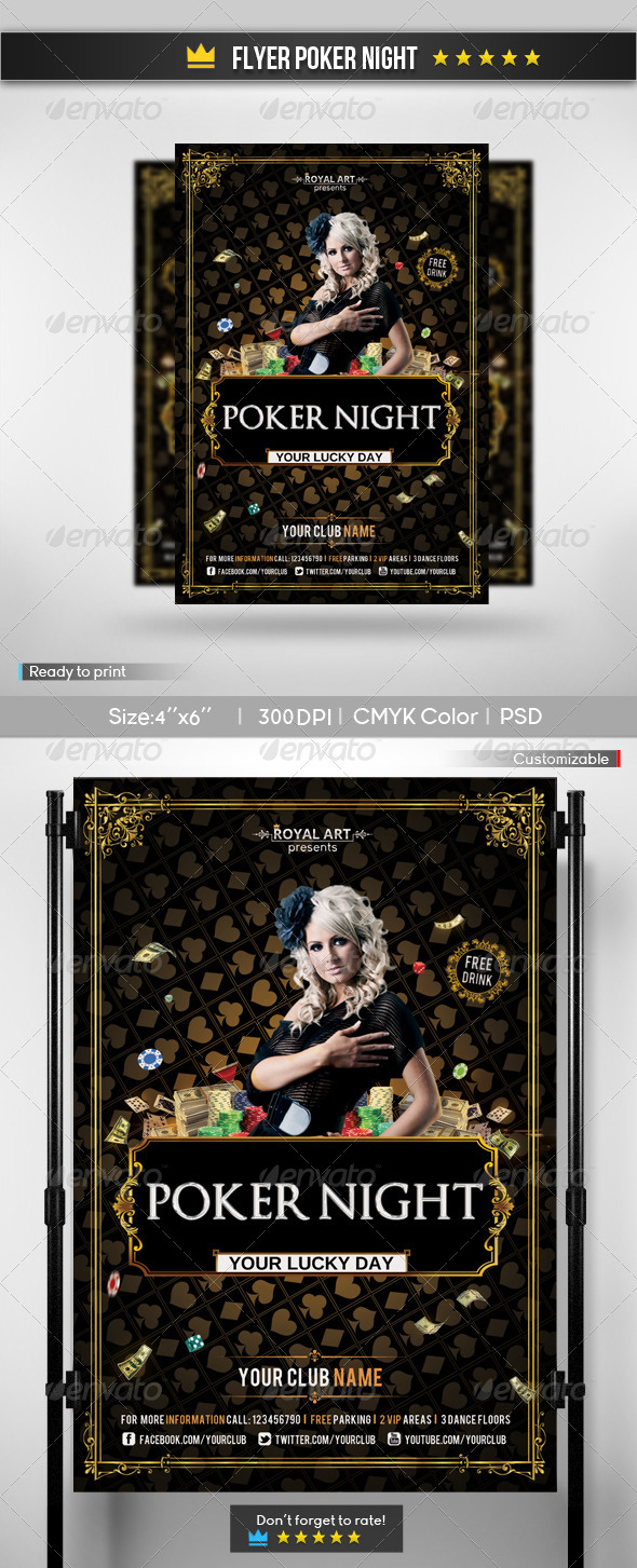 GraphicRiver Flyer Poker Night 6868051