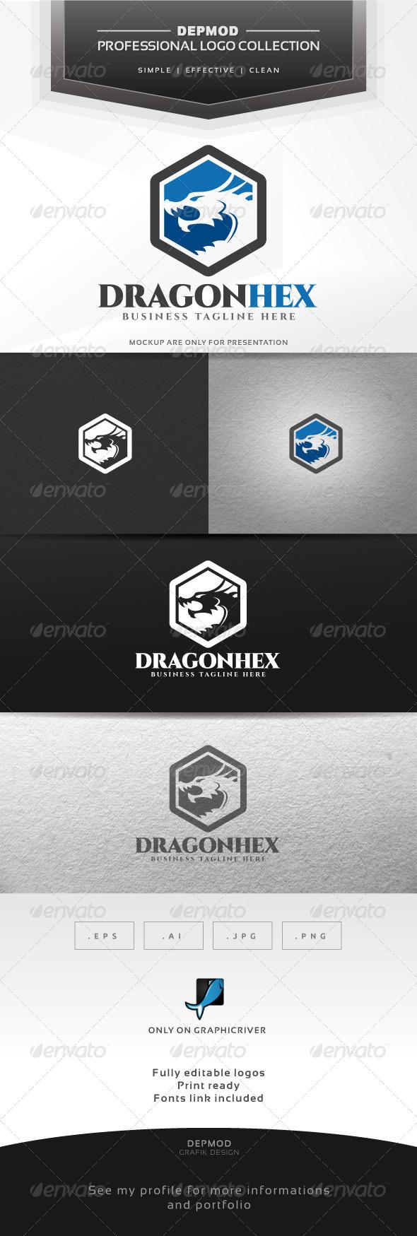 GraphicRiver Dragon Hex Logo 6868247