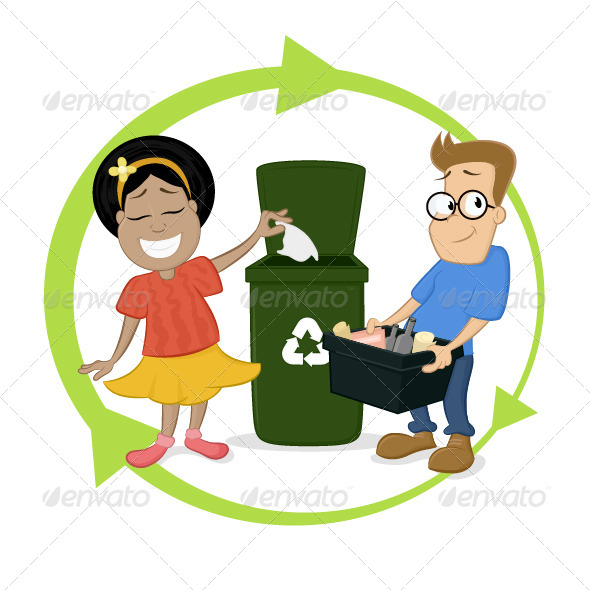 GraphicRiver Recycling Chidlren Activities 6868281
