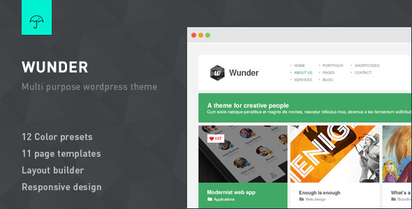 Wunder - Multi Purpose Wordpress Theme - Business Corporate