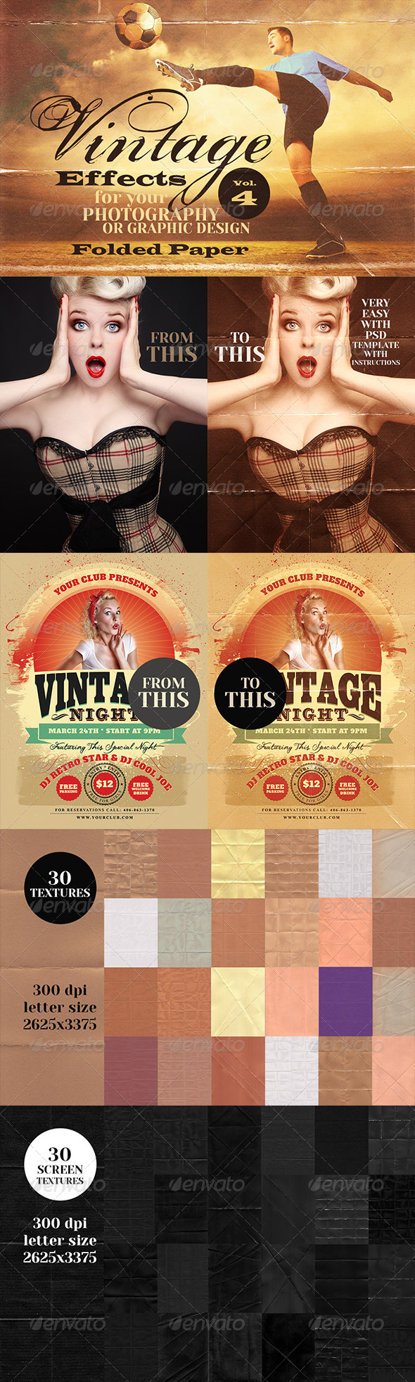 GraphicRiver Vintage Effects for Photo Designs 4 6868646