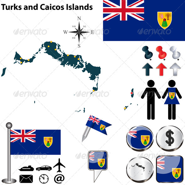 GraphicRiver Map of Turks and Caicos Islands 6868708