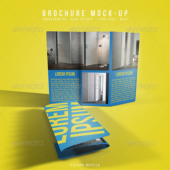 GraphicRiver Brochure mockup 6868268