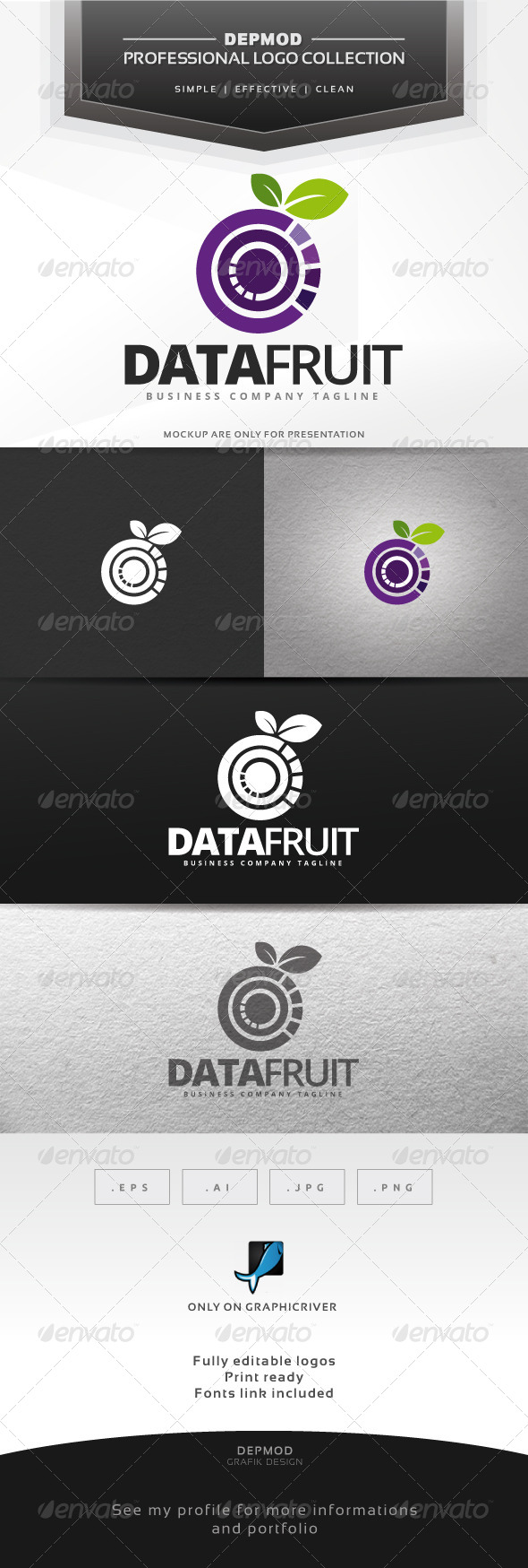 GraphicRiver Data Fruit Logo 6869168