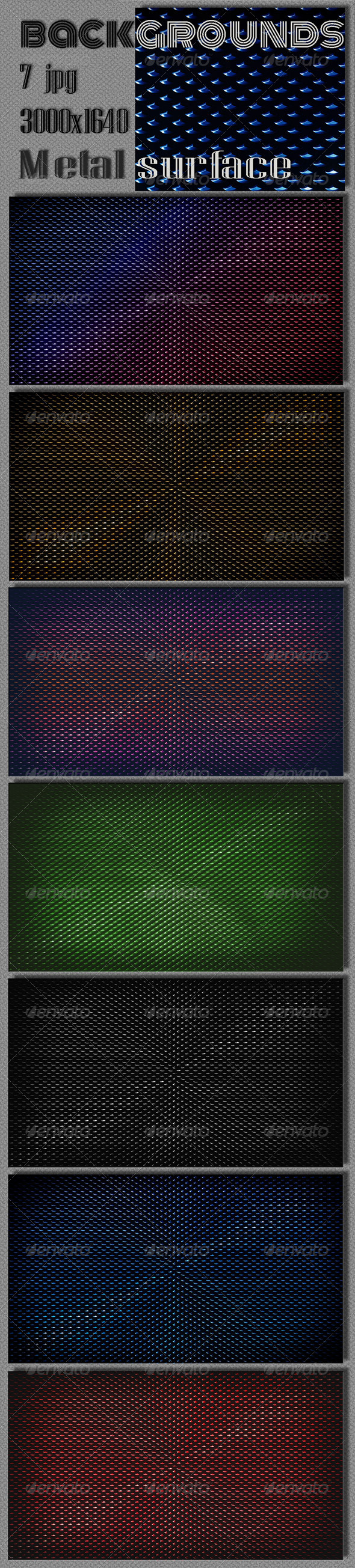 GraphicRiver Dark Metal Surface Background 6869169