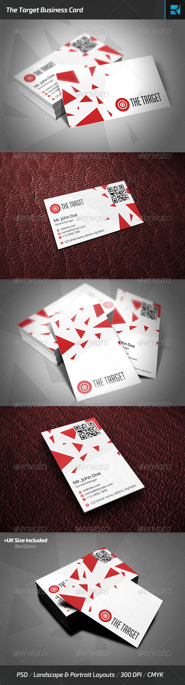 GraphicRiver The Target Business Card 6869329