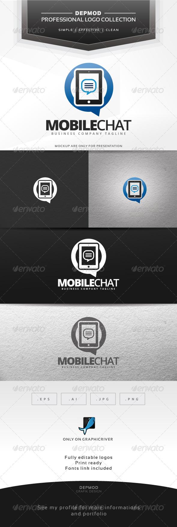 GraphicRiver Mobile Chat Logo 6869673
