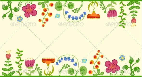 GraphicRiver Floral Background 6869702