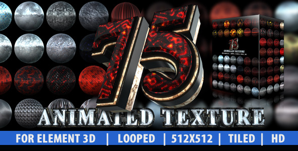 75 animated texture  element 3d  by vokimedia