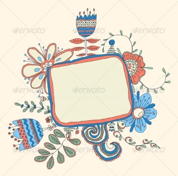 GraphicRiver Floral Frame 6870054