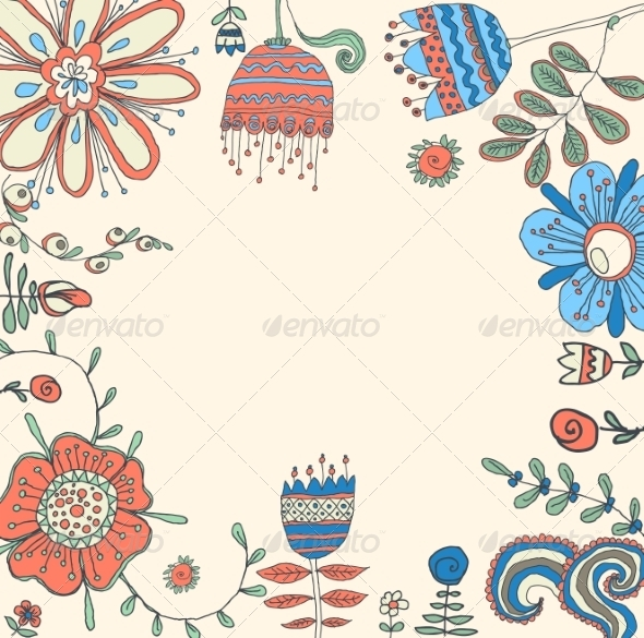 GraphicRiver Floral Background 6870056