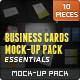 Business Cards Mockups Pack | Essentials - GraphicRiver Item for Sale