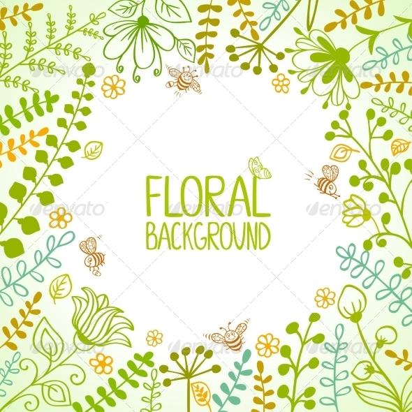 GraphicRiver Floral Frame 6870215