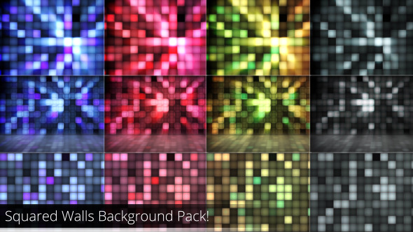 Squared Walls Background Pack