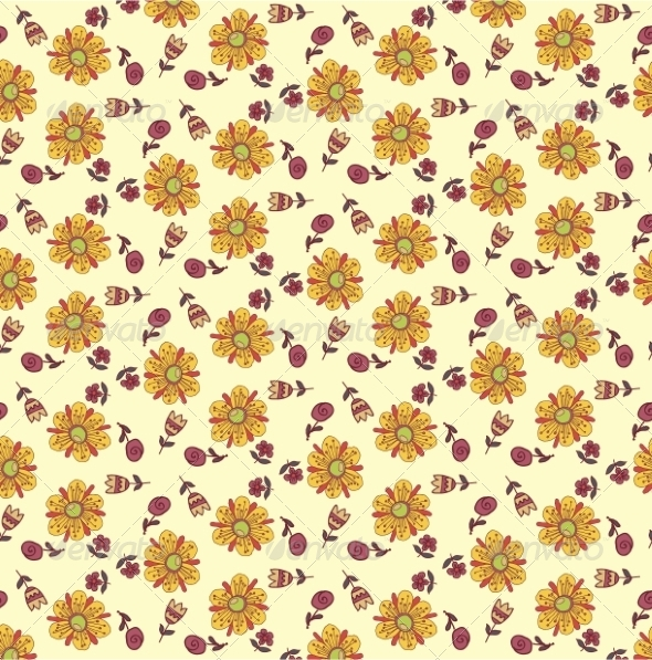 GraphicRiver Retro Floral Background 6870284