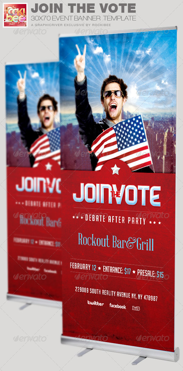 Join the Vote Event Banner Signage Template