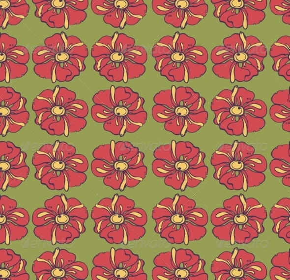GraphicRiver Retro Floral Background 6870358