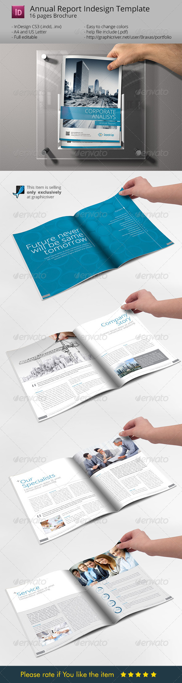 GraphicRiver Sharp and Clean Annual Report Brochure 6870364