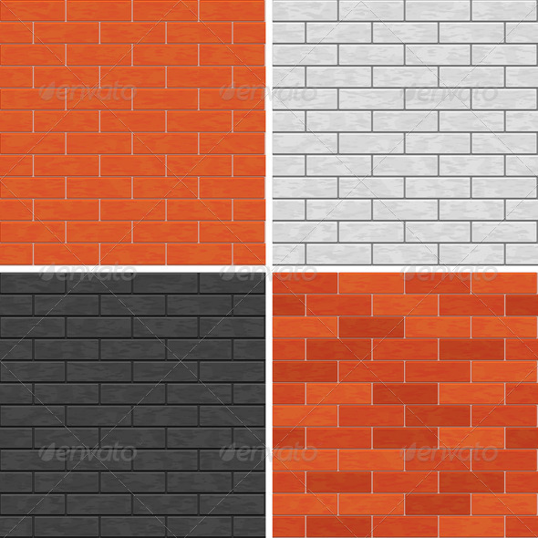 Seamless Brick Wall Patterns - Patterns Decorative