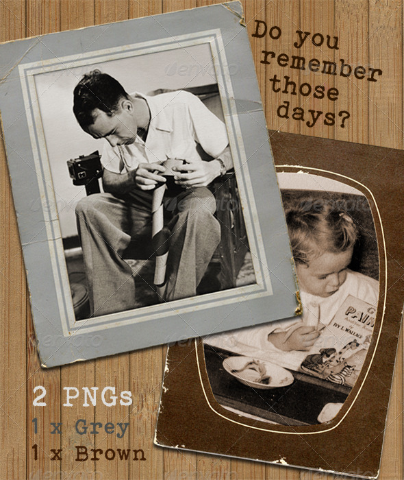 Retro Photograph Display Frames old card