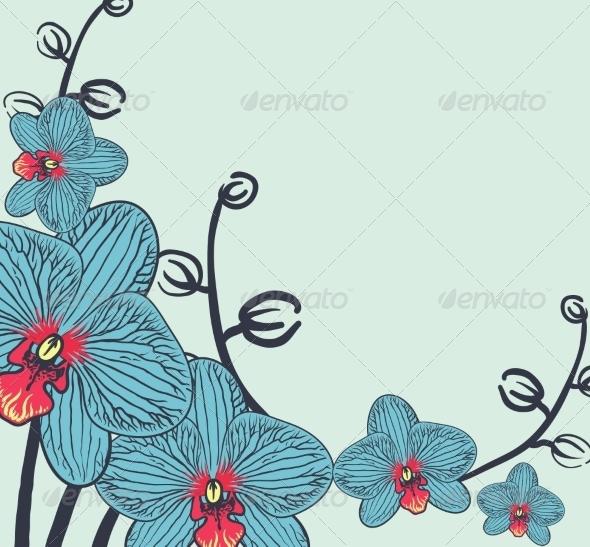 GraphicRiver Retro Floral Background 6870459