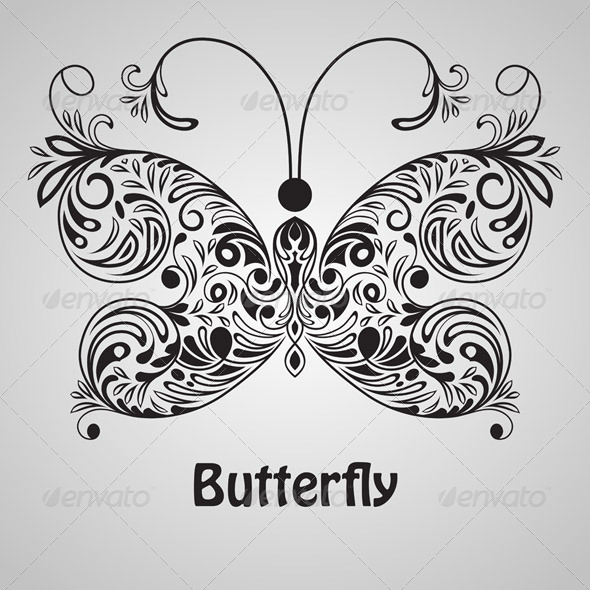 GraphicRiver Vector butterfly 6870496