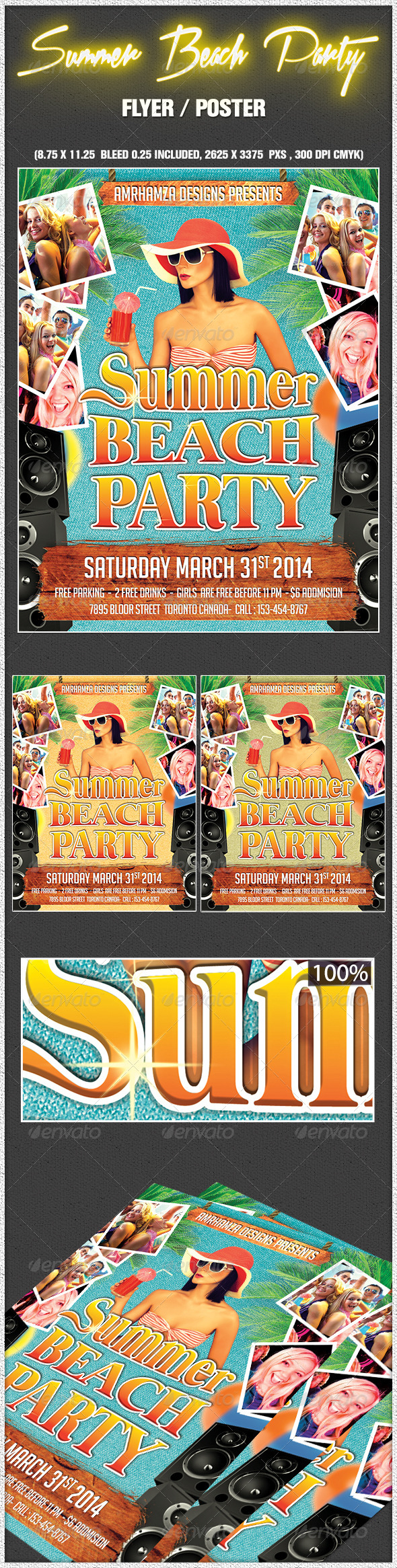 GraphicRiver Summer Beach Party Flyer Poster 6862298