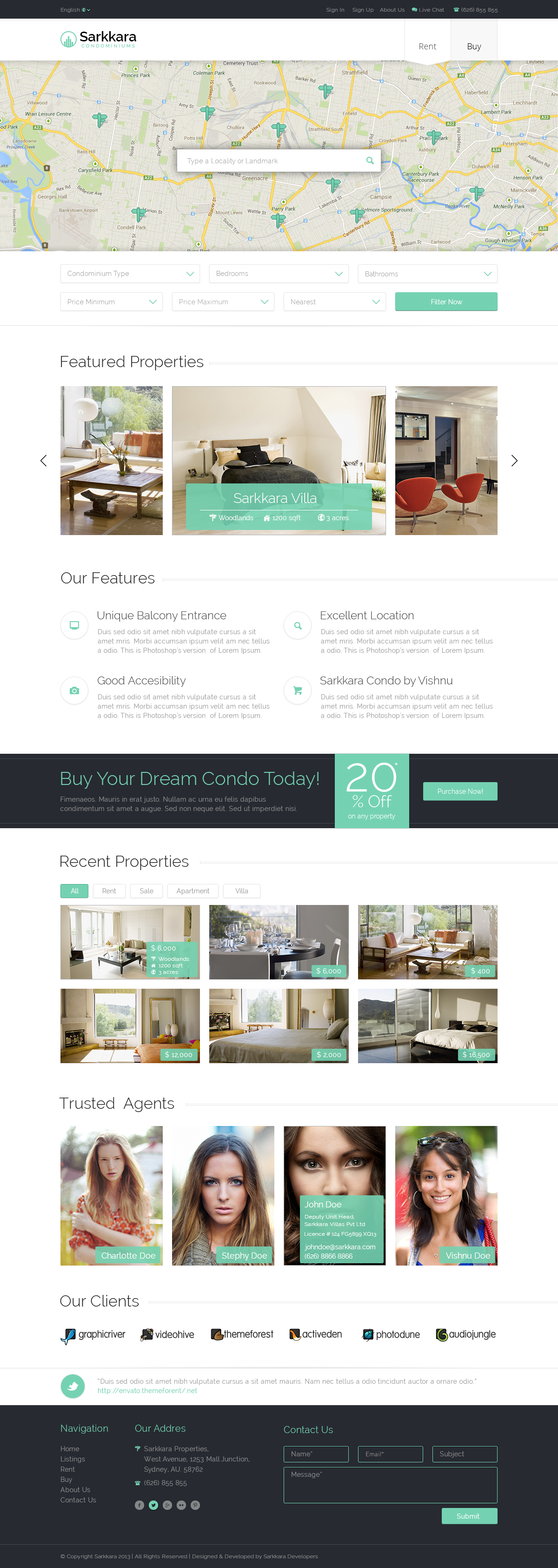 Sarkkara Responsive Real Estate HTML5 Template