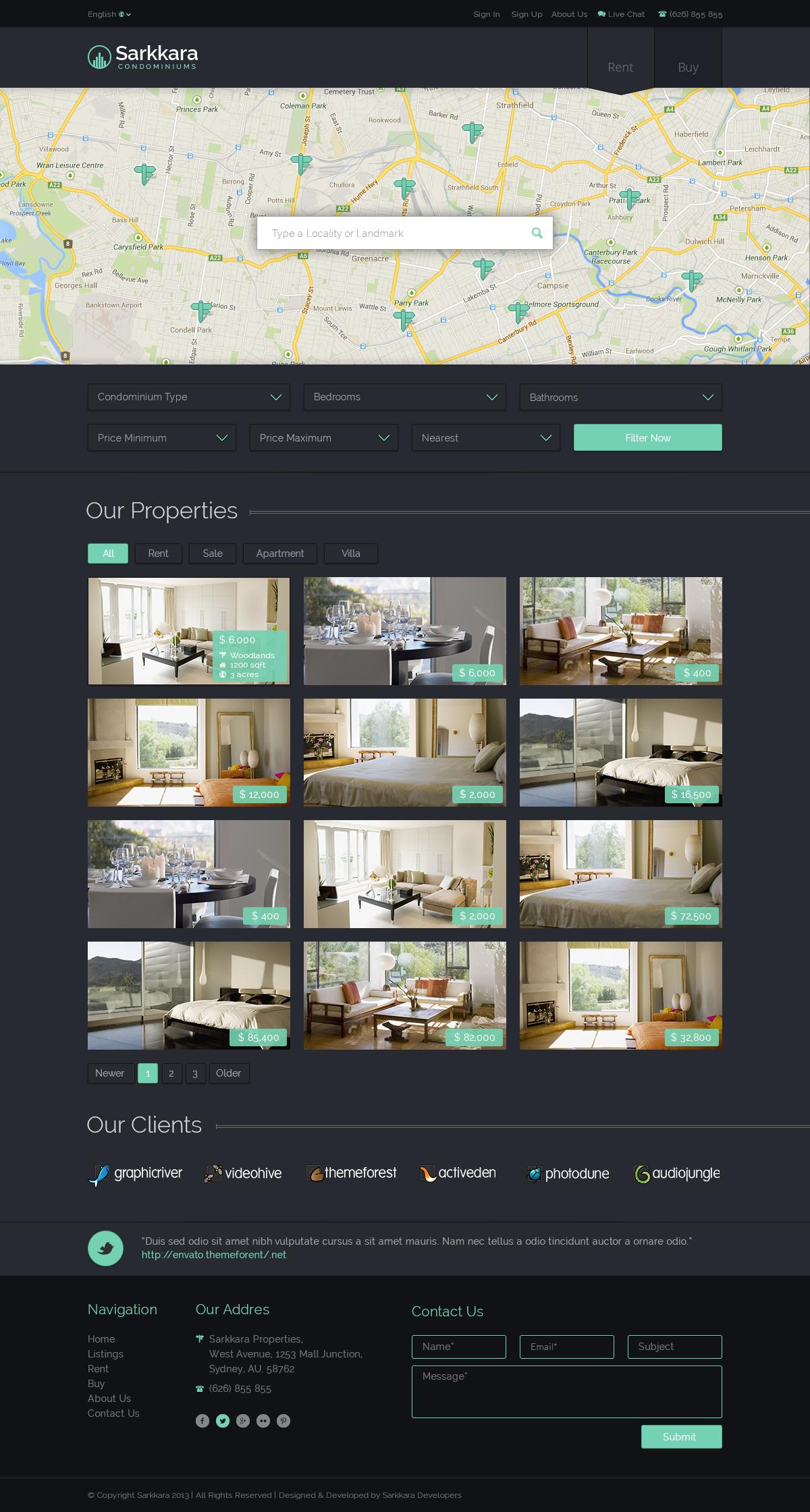 Sarkkara Responsive Real Estate HTML5 Template