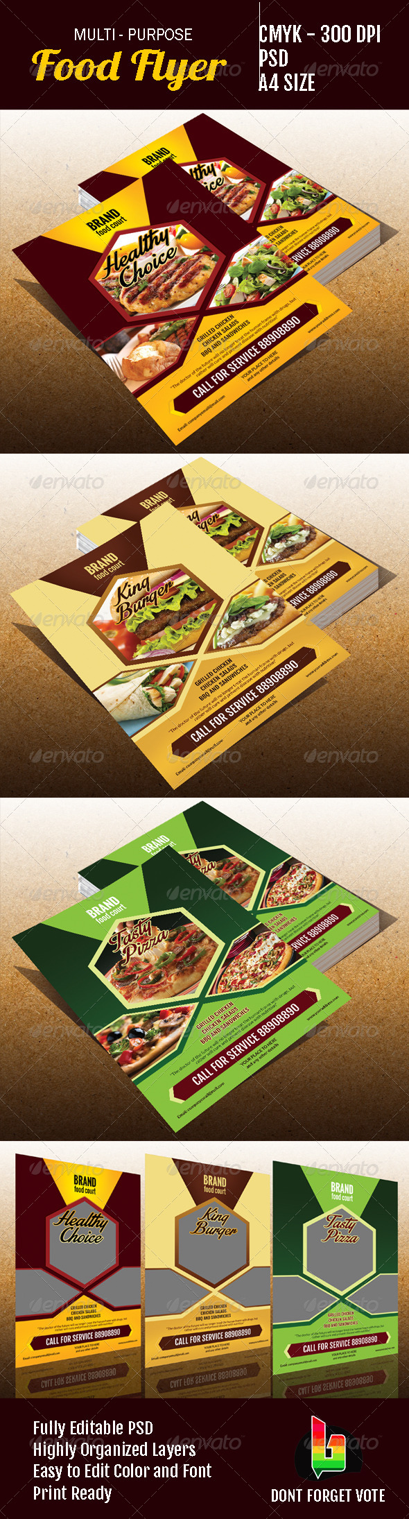 GraphicRiver Multipurpose Food Flyer 6871434