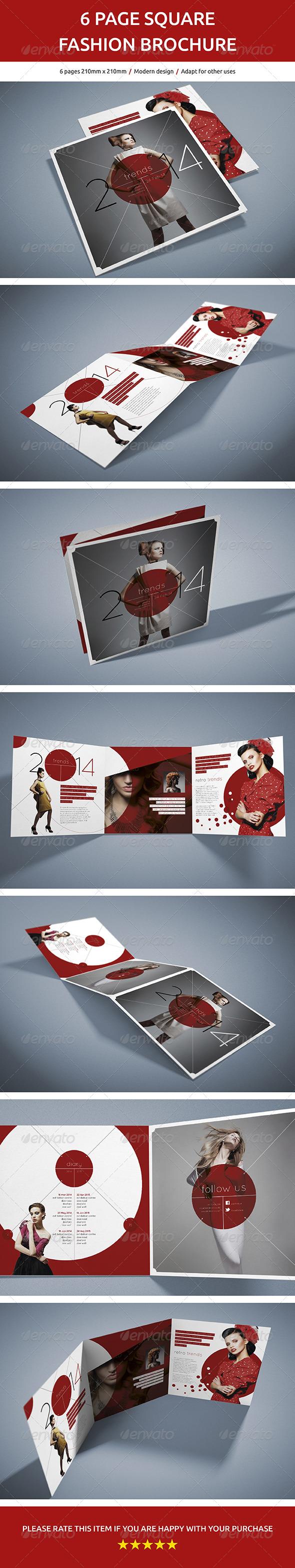 GraphicRiver 6 Page Square Fashion Brochure 6871447