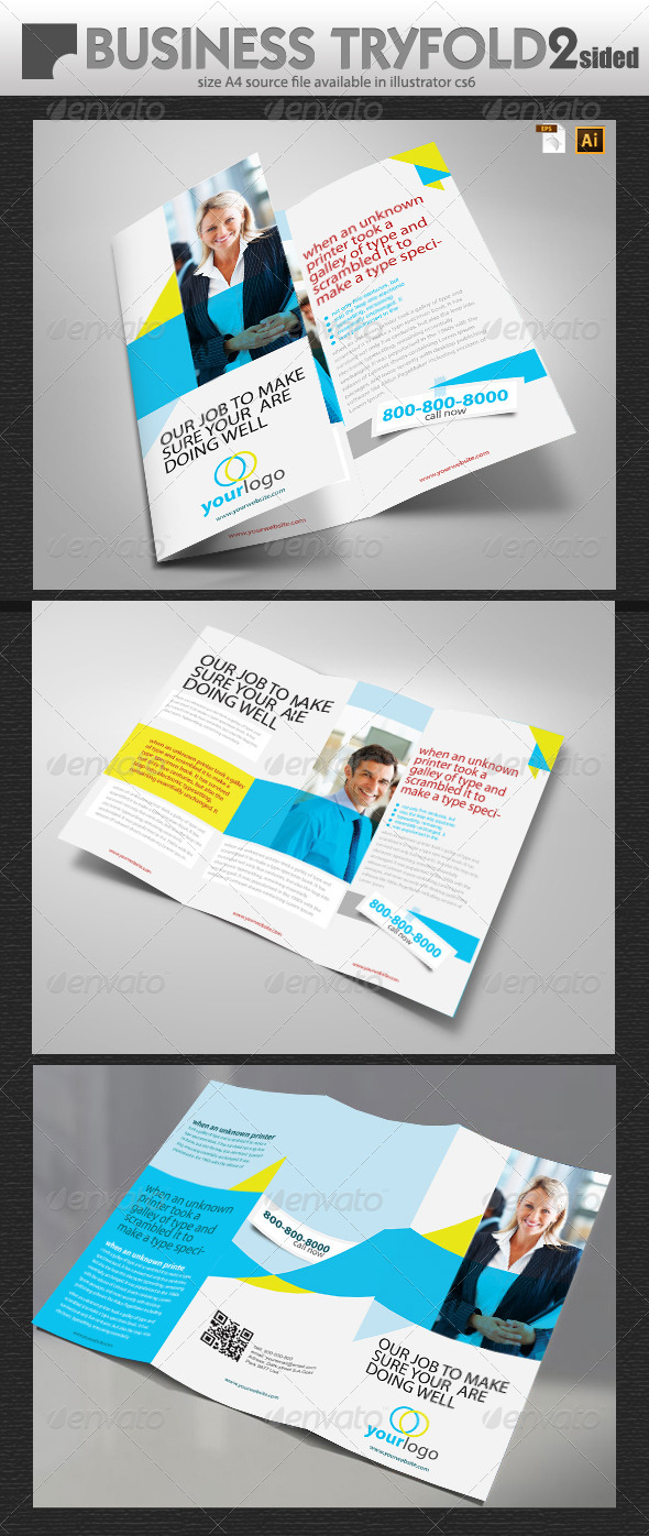 GraphicRiver Business Tri Fold Design 6871575