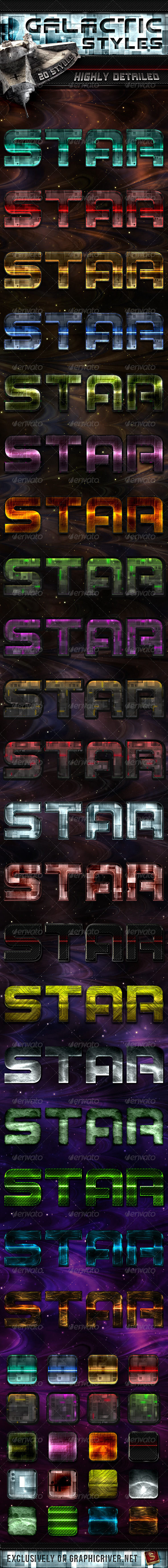 Galactic Photoshop Styles - Text Effects Styles