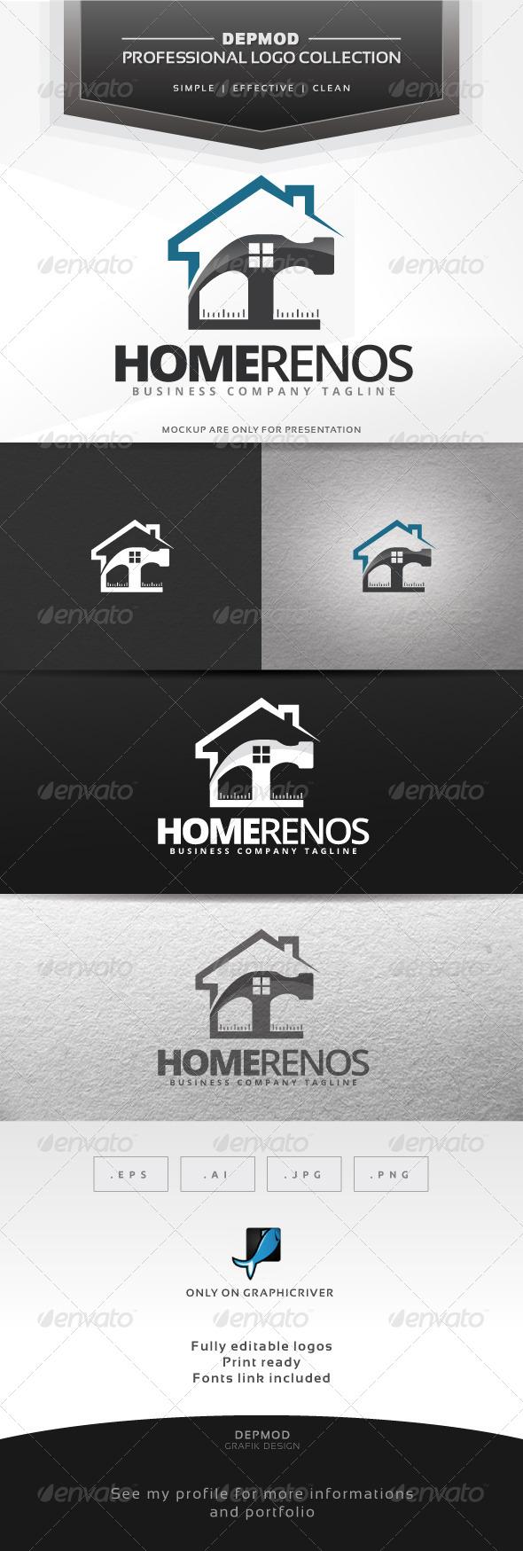 GraphicRiver Home Renos Logo 6871795
