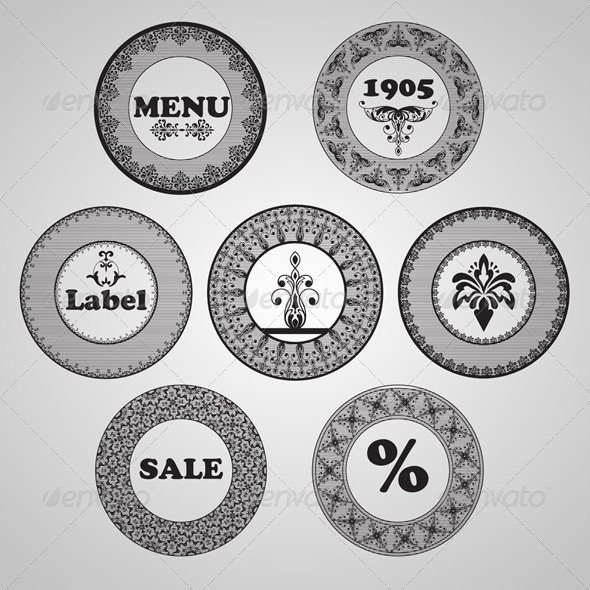 GraphicRiver Vector Vintage Labels 6871847
